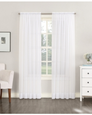 """No. 918 Sheer Voile 59"""" x 108"""" Rod Pocket Top Curtain Panel"""