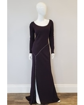 Glitter Jersey Gown, Ink or Mocha