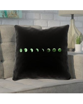"""Brayden Studio Enciso Moon Phases Square Throw Pillow BYST5866 Size: 18"""" x 18"""", Color: Green"""