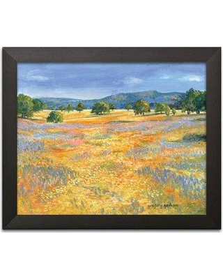"""Winston Porter 'California Valley' Acrylic Painting Print BF127787 Size: 12"""" H x 16"""" W x 0.75"""" D Format: Black Framed"""