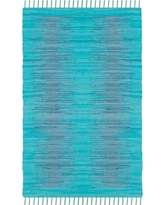 Turquoise Abstract Flatweave Woven Accent Rug - (3'X5') - Safavieh