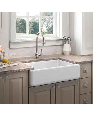 KOHLER KOHLER Whitehaven All-in-One Undermount Cast Iron 33 in. Kitchen  Sink in White with Artifacts Faucet in Stainless Steel from Home Depot   ...