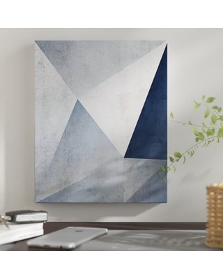 "'Iced Geometry' Graphic Art Print East Urban Home Size: 24"" H x 20"" W x 1.5"" D, Format: Wrapped Canvas"