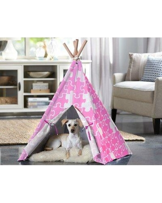 Tucker Murphy™ Pet Charles Triangular Play Tent Dog Bed ULNQ2552 Size: Medium (29.92'' L x 29.92'' W) Color: Pink