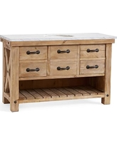 Benchwright Single Wide Sink Console, Wax Pine