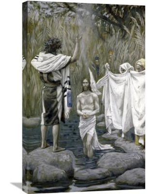 Global Gallery 'Baptism of Jesus' by James Tissot Painting Print on Wrapped Canvas GCS-280222-30-142