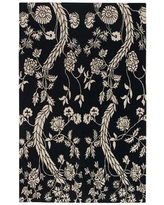New Deal On Haynes Floral Hand Knotted Wool Black Cream Area Rug Bloomsbury Market Rug Size Rectangle 2 X 3