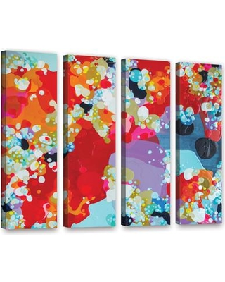 """Latitude Run Without Boundaries 4 Piece Painting Print on Wrapped Canvas Set LTRN6173 Size: 24"""" H x 32"""" W"""