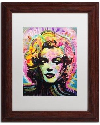 "Trademark Art 'Marilyn 1' Framed Graphic Art Print ALI5754-W1 Size: 14"" H x 11"" W x 0.5"" D Matte Color: White"