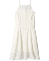 cupcakes and cashmere Women's Layden Midi Lace Dress, Ivory, 0