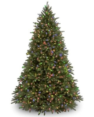 National Tree Company 6.5-Foot Pre-Lit Jersey Fraser Fir Christmas Tree with Clear Lights