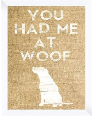 PTM 'You Had Me At Woof' Framed Graphic Art Print 6-4457