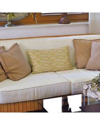 Brayden Studio Stephenie Lined Chevrons Lumbar Pillow W001699649 Color: Yellow/White Fill Material: Polyester/Polyfill