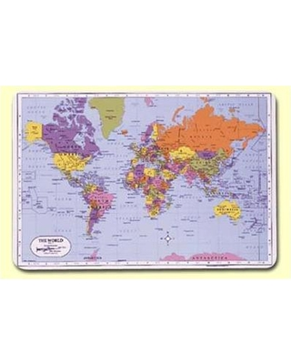 """Painless Learning Placemats World 17.5"""" Placemat (Set of 4) JDR-2"""