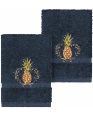 Linum Home Textiles Turkish Cotton Welcome Embellished Washcloth Set, 4PC SET