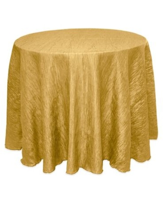 Ultimate Textile Delano 90-Inch Round Tablecloth in Harvest Gold