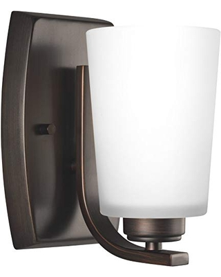 Sea Gull Lighting Generation 4128901EN3-710 Transitional One Light Wall Sconce from Seagull-Franport Collection in Bronze/Dark Finish, Burnt Sienna