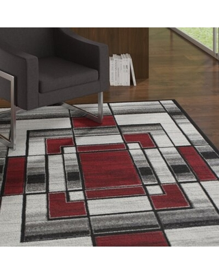 Can T Miss Bargains On Adonia Geometric Red Area Rug Wrought Studio Rug Size Rectangle 5 X 8