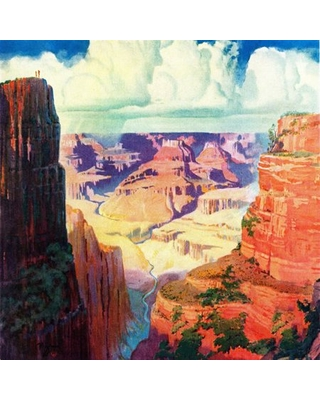 """""""Grand Canyon 4"""" Painting Print on Wrapped Canvas"""