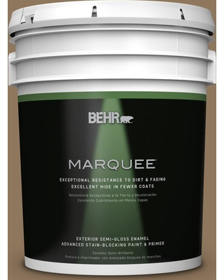 BEHR MARQUEE 5 gal. #N300-6 Archaeological Site Semi-Gloss Enamel Exterior Paint and Primer in One