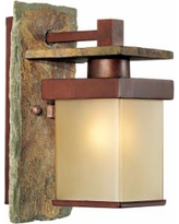 """Slate Stone Collection 11"""" High Indoor/Outdoor Wall Sconce"""