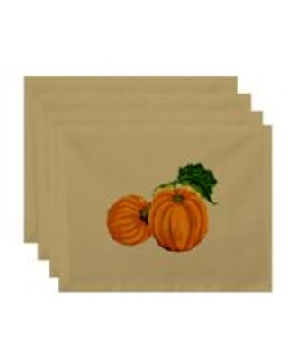 "Simply Daisy 18"" x 14"" Pumpkin Patch Holiday Print Placemat"