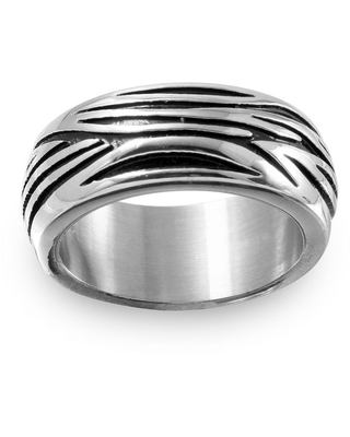 9M Stainless Steel Wedding Band, 10 , No Color Family