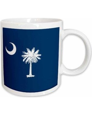 East Urban Home Flag of South Carolina Sc Us American United State of America Usa Palmetto Tree Indigo Coffee Mug W000685017 Color: White