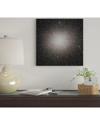 """East Urban Home 'Omega Centauri Globular Cluster' By Roberto Colombari Graphic Art Print on Wrapped Canvas EUME7863 Size: 26"""" H x 26"""" W x 0.75"""" D"""