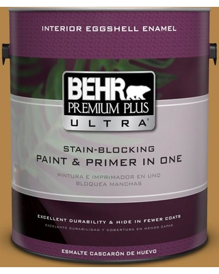 BEHR ULTRA 1 gal. #MQ4-09 Rice Curry Eggshell Enamel Interior Paint and Primer in One