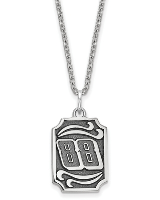 14mm Stainless Steel 88 Bali Type Vertical Pendant Necklace
