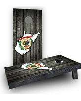 Custom Cornhole Boards Wood Slate State Flag & Map (West Virginia) Cornhole Boards CCB1590-C Bag Fill: Heavier Boards with Corn Filled Bags/Handles