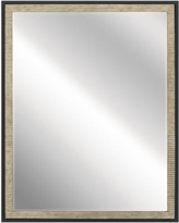 "Millwright Distressed Antique Gray 24"" x 30"" Wall Mirror"
