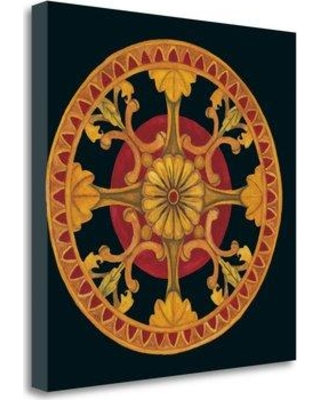 """Tangletown Fine Art 'Rosette III' Graphic Art Print on Wrapped Canvas CAALP306-2020c Size: 24"""" H x 24"""" W"""