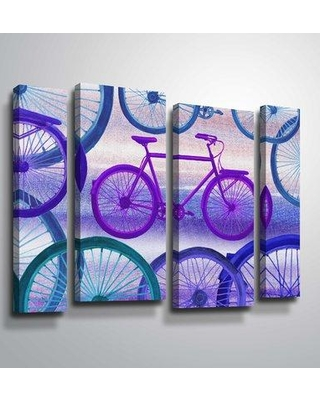 Ebern Designs Kukkapalli 'Bicycles Collection III' Graphic Art Print Multi-Piece Image on Canvas BI077476 Format: Wrapped Canvas