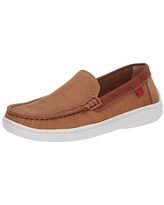 MARC JOSEPH NEW YORK Loafer, Tan Jeans Perforated/Contrast Binding, 11.5 US Unisex Little Kid