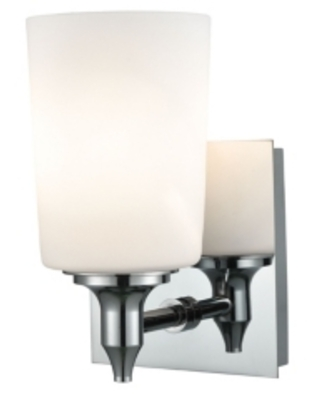 1 Light Vanity in Chrome and Opal Glass