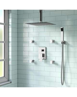 Amazing Deal On Rebrilliant Cahoon Complete Shower System W Rough In Valve Chrome Wayfair 0f9fde41f321471184c8a403d1d238f7