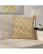 """Latitude Run Decorative Holiday Geometric Print Outdoor Throw Pillow LTRN4963 Size: 20"""" H x 20"""" W, Color: Taupe"""