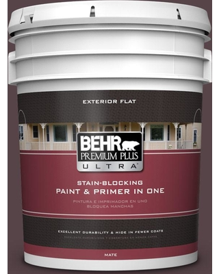 BEHR Premium Plus Ultra BEHR Premium Plus Ultra 5 gal  #hdc-FL14-9 Black  Raspberry Flat Exterior Paint from Home Depot   Real Simple
