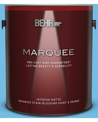 BEHR MARQUEE 1 gal. #550B-4 Costa Rica Blue Matte Interior Paint and Primer in One
