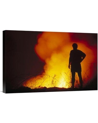 """East Urban Home 'Admiring Nocturnal Display of Fountain Lava Cape Hammond Galapagos Islands' Photographic Print EAUB5134 Size: 16"""" H x 24"""" W Format: Wrapped Canvas"""