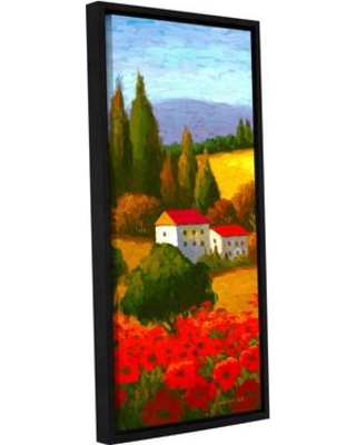 """Red Barrel Studio Tuscan Poppies I Painting Print on Wrapped Canvas RDBS2097 Size: 24"""" H x 48"""" W x 2"""" D"""