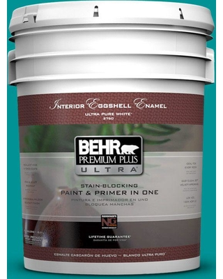 BEHR ULTRA 5 gal. #P460-6 Paradise Landscape Eggshell Enamel Interior Paint and Primer in One
