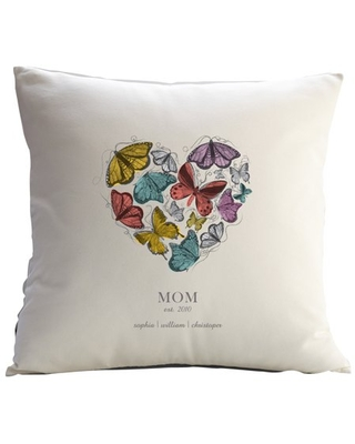 Personalized RedEnvelope Butterfly Heart Throw Pillow w/Insert 12x18 or 18x18