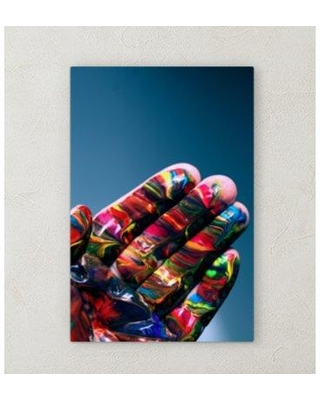 """East Urban Home 'All Colors' Graphic Art Print on Wrapped Canvas BI072148 Size: 30"""" H x 30"""" W x 2"""" D"""