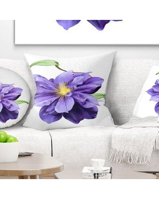 """East Urban Home Floral Watercolor Summer Flower Pillow VCBN7209 Size: 18"""" x 18"""" Product Type: Throw Pillow"""