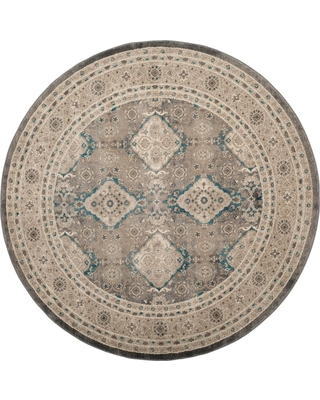 Safavieh Sofia Light Gray/Beige 6 ft. 7 in. X 6 ft. 7 in. Round Area Rug