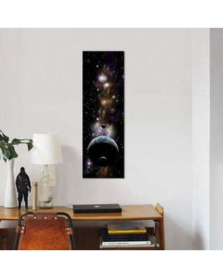 "East Urban Home 'An Earth-Like Planet With A Pair Of Moons In Orbit II' By Marc Ward Graphic Art Print on Wrapped Canvas EUME8040 Size: 48"" H x 16"" W x 1.5"" D"