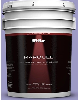 BEHR MARQUEE 5 gal. #630B-5 Majestic Violet Flat Exterior Paint and Primer in One